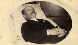 France Annoeullin Homme Portrait Post Mortem Ancienne CDV Photo Courmont 1890 - Photographs