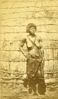 Probablement Afrique De L Est Femme Indigene Ancienne CDV Photo 1870 - Photographs