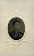 Tintype Ferrotype Americain Femme Ancienne Photo 1880 - Oud (voor 1900)