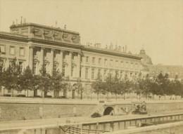 France Paris Le Louvre Vu De La Seine Ancienne Photo CDV Anonyme 1860 - Photographs