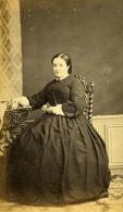 France Bayonne Mode Femme Du Second Empire Crinoline Ancienne CDV Photo Guyot 1860 - Photographs