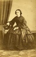France Paris Mode Femme Du Second Empire Crinoline Ancienne CDV Photo Anonymous 1860 - Photographs