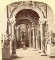 Statue Gallery Vatican Italy Stereoview Photograph 1865 - Stereoscopic