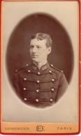 French Anonymous Soldier Uniform Old CDV Photo 1890 - Guerra, Militari