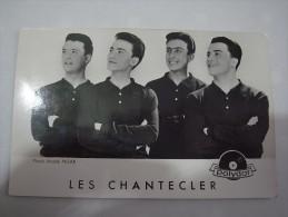 1 FOTO PHOTO - ARTIST MUSIC LES CHANTECLER AUTOGRAPH AUTOGRAPHE SIGNED FRANCE FRENCH (2 SCANS) - Signed Photographs