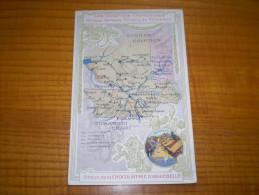 Publicité Chocolat D´Aiguebelle ,Drôme : Carte Des Colonies Françaises: Territoire Militaire Du Tchad : Bedonga - Pubblicitari