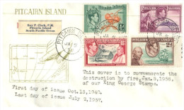 (730) Pitcairn Island FDC Cover  - 1956 - Pitcairn