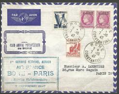 LETTRE ALGERIE  AVEC N� 229 / 198 / 199