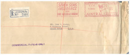 (730) Australia - Registered Cover Posted From Newcastle To Bexley (NSW) 1960 (with Machine Postage Print) - Australia