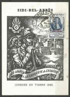 ALGERIE JOURNEE DU TIMBRE 1947 AVEC N� 253