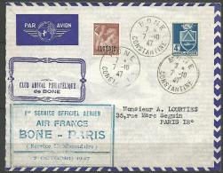 LETTRE ALGERIE  AVEC N� 234 ET 182