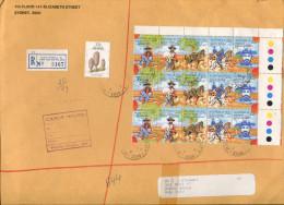 (special 8) Australia - Registered Large Envelope + Security Paid Label - 1986 - Australia