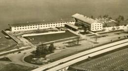 Flugzeugaufnahme Autobahn Rathaus Rastplatz Chiemsee Sw 50er - Ansichtskarten