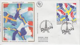Enveloppe 1er Jour    SUEDE   Relations  FRANCE - SUEDE     1994 - FDC