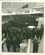 USS San Diego Boston Navy Yard Flag Old Photo 1942 - War, Military