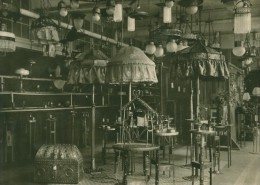 Leipzig Fair Beleuchtung Lamps Exhibit Old Photo 1930