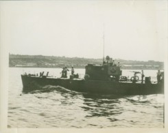 WWII Russian Patrol Boat Danube River WW2 Photo 1941 - War, Military