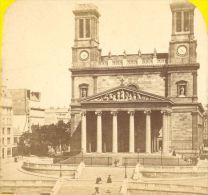 St Vincent De Paul Church Paris Stereoview Photo 1870 - Stereoscopic