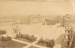 Carrousel Place Paris France Old L.& L. Photo 1880' - Photographs