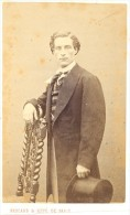 E. Chevaliez Early Opera Old Signed CDV Photo 1860' - Photographs