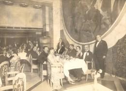 Paquebot Ile De France Captain Table Old Photo 1930'