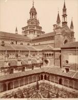 Certosa Di Pavia Fianco Chiesa Italy Old Photo 1880' - Old (before 1900)