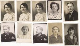 Unusual Set Of 10 ID Photography Photobooth 1930-1950 - Photos