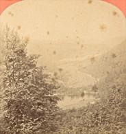 Retournemer Lake Vosges Old Stereo Photo 1880 - Stereoscopic
