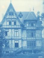 France Normandie Villa Art Nouveau Cyanotype Photo 1895 - Photographs