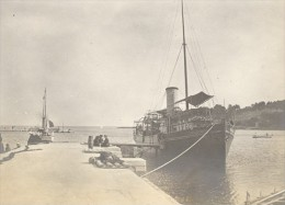 Steamer Carry Boarding Boat France Old Photo 1890' - Photographs