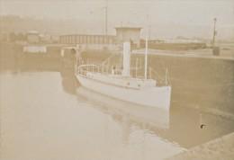 Tugboat Intrepide Boat Brazil Marine Old Photo 1890' - Old (before 1900)