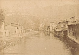 Thiers Le Moutier River France Old Cabinet Card Photo CC 1880' - Old (before 1900)