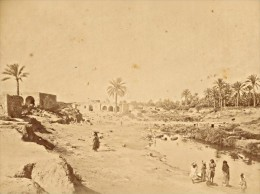 Tunisia Gabes Water Point Animated Old Photo 1880' - Photographs