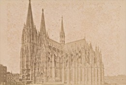 Germany Coln Cathedral Works Old Cabinet Card Photo CC 1890 - Photographs