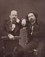 Writer Erckmann Chatrian France Old Petit Photo 1875 - Photographs