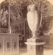 Alabaster Vase Vatican Roma Italy Old Stereo Photo 1895 - Stereoscopic