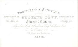 Photographic Studio Pioneer Levy Porcelaine Card 1860