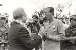 Khmero Thai Border Prince Norodom Sihanouk Photo 1984 - Photographs