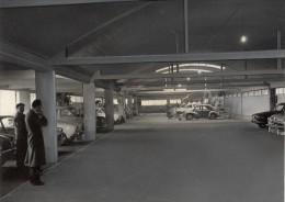 Paris Motor Garage Car Renault Old Photomontage 1960