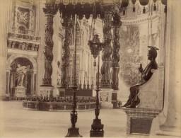 San Pietro Church Interior Roma Italy Old Photo 1880 - Photographs