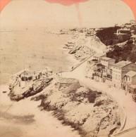 France Marseille Corniche Road Old Stereo Photo 1880 - Stereoscopic