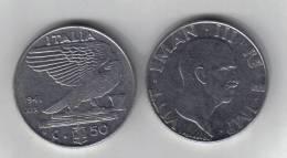 RedB - REGNO , 50 Cent NICHELIO Del 1941 . Impero - 1861-1946 : Regno