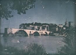 France Pont D' Avignon Bridge Autochrome Photo 1925