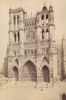 Amiens Cathedral Facade France Old Photo 1890 - Photographs