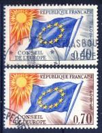 ##France 1969. European Council / Conseil De L'EUROPE. Michel 13-14. Cancelled(o) - Oblitérés