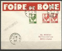 LETTRE ALGERIE FOIRE DE BONE AVEC N� 219 ET 220