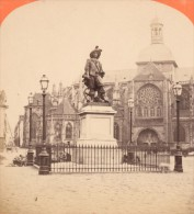 Statue De Duquesne Dieppe France Neurdein Stereo Photo 1870 - Stereoscopic