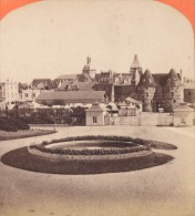 Vue Prise Des Jardins Du Casino Dieppe France Neurdein Stereo Photo 1870 - Stereoscopic