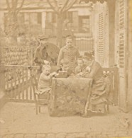 Scene Famille France Ancienne Photo Stereo Amateur 1870 - Stereoscopic