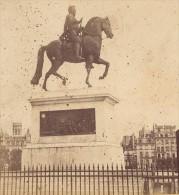 Place Henri IV Paris France Ancienne Photo Stereo 1870 - Stereoscopic